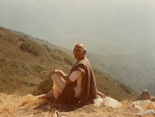 SiteFiles/photos/Swami Venkatesananda In The Mountains Outside Los Angeles