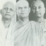 With Dharmmananda Thera and Swami Pranavananda