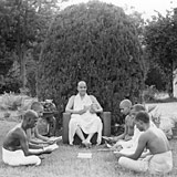 Study or Proofing Session at the Sivananda Ashram